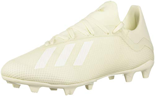 adidas Men's X 18.3 Firm Ground Soccer Shoe, Off White/White/Black, 10.5 M US