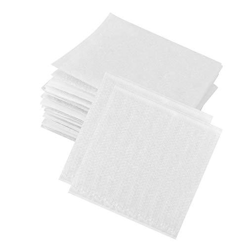 BESPORTBLE 40 Piezas Antideslizante Alfombra Pegatinas Área Alfombra Almohadilla de Agarre para Sofá Cama Muebles Protección Cojín Adhesivo Almohadilla de Apoyo 4X4CM Blanco
