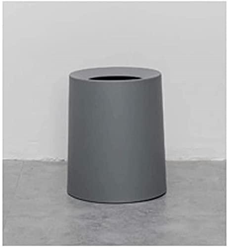 DZCGTP Papelera de Reciclaje de residuos/Papelera pequeña Redonda de Doble Capa, Utilizada en baño, Cocina, Oficina, Sala de Manualidades, lavadero, multiplicador