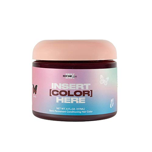 INH Insert Color Here - Semi-Permanent Hair Color, Vegan Deep Conditioning Red Hair Dye - Ruby Red 6 oz