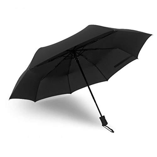 EFKKLM Parapluie Pliant Hommes Hommes Qualité des Parapluies Ensoleillées Et Pluvieuses Style Coupe-Vent À Rayures Style 4 Couleurs Parasol