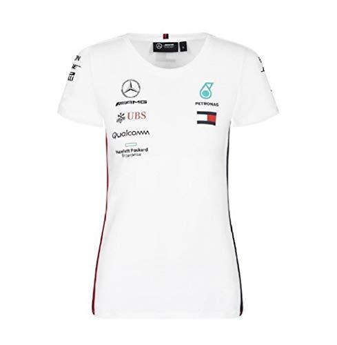 Official Formula 1 Merchandise | Damen | Offizielle Mercedes-AMG Petronas Motorsport 2019 F1™ | Team T-Shirt | Weiß | Baumwolle und Elestan | Größe: L