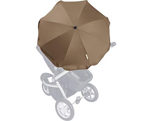 Playshoes Sonnenschirm für Kinderwagen Set braun