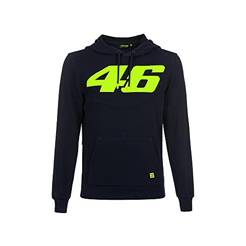 Vr46 Core Core Large 46 Sweatshirt à Capuche Homme, Bleu, XXL