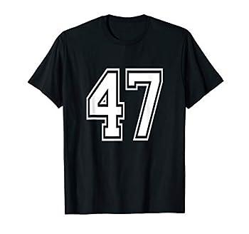 Number 47 T-Shirt Birthday Varsity Sports Team Jersey