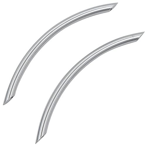 Tiradores para puerta de armario – Tirador de puerta para puerta corredera para armarios de cocina, picaporte de metal, de acero inoxidable, 2 unidades, color plateado
