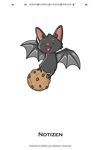 Cookie Fledermaus Notizbuch: Punkteraster Notizbuch für Naschkatzen und Keksliebhaber