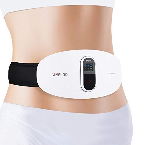 2 in 1 Ab Stimulator Toning Belt for Abdominal Muscle Fitness - HONGJING Cordless Heated Massager Belt for Lumbar Pain Relief