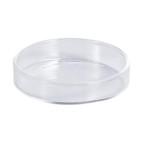 POPETPOP 1PC Smooth Transparent Durable Crystal Shrimp Food Dishes Feeding Bowl Feeder Basin Ornamental Supplies