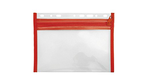 Veloflex 4350020 Sammelmappe Velobag, Ordnungsmappen Dokumentenmappen, abheftbar, XXS A5, rot