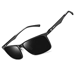 Bircen Mens Polarized Driving Sunglasses For Mens Women Al-Mg...