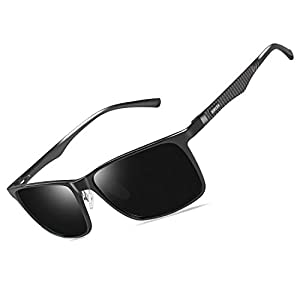 Bircen Mens Polarized Driving Sunglasses For Mens Women Al-Mg Metal Frame Lightweight Fishing Sports Outdoors