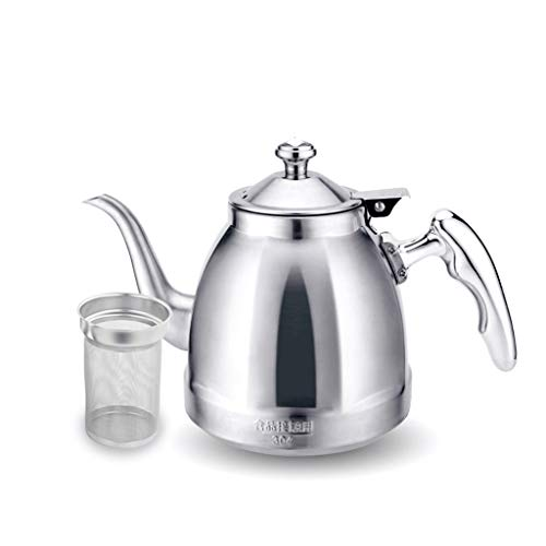 Mr.T 3L Gas Camping Ketel Fluitende Theemachines, Theepot roestvrij staal Ketels Snelle Kook Voor Restaurant Hotel-Silver