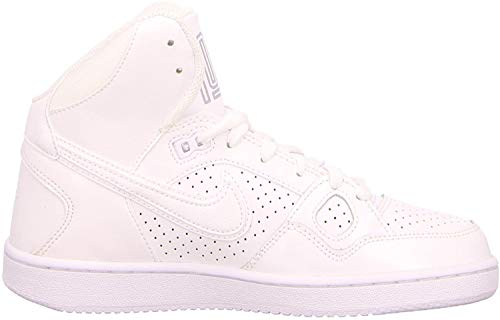 Nike Damen WMNS Son of Force Mid Basketballschuhe, Weiß (White/White/Wolf Grey 110), 41 EU