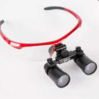 HYCQ Magnifier 4X 460mm Dental Surgical Medical Binocular Loupes Dentist Black Metal Optical Glass Magnifier Fauay