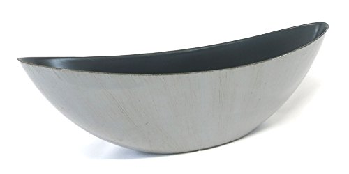 Decoline Kunststoff Blumentopf Schiff (grau/braun, L: 39 x 13cm)