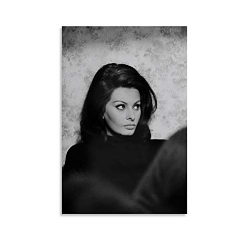 Sofia Loren Cheveux Canvas Art Poster and Wall Art Picture Print Modern Family Bedroom Decor Posters 16x24inch(40x60cm)