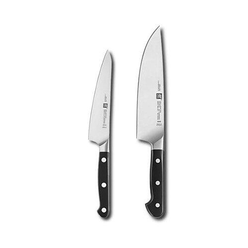 Zwilling Kochmesser Pro 2 Stück, Edelstahl, Silber/Schwarz, 38 x 28 x 28 cm, 2-Einheiten