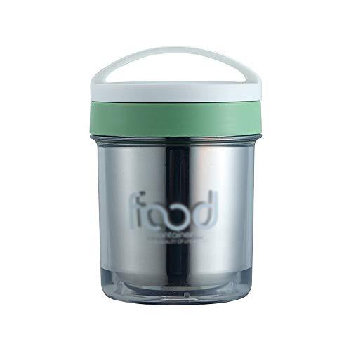 JYDQM Edelstahl Insulated Suppentassen Lunch Box Food Container tragbare Flasche versiegelt Frühstück Cup Milch Haferflocken Cup mit Löffel (Color : A)