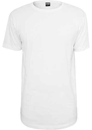 Urban Classics TB638 Shaped Long Tee T-shirt Man Regular Fit White Bianco M
