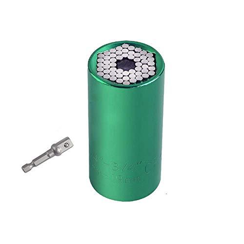 KAUTO Juego de Llaves dinamométricas universales, Manguito 7 Llave de trinquete para Taladro eléctrico de 19 mm, Azul, Herramienta Manual multifunción -