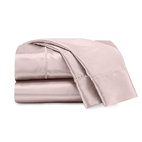 Seduction Satin Solid Sheet Set, Queen, Rose Gold