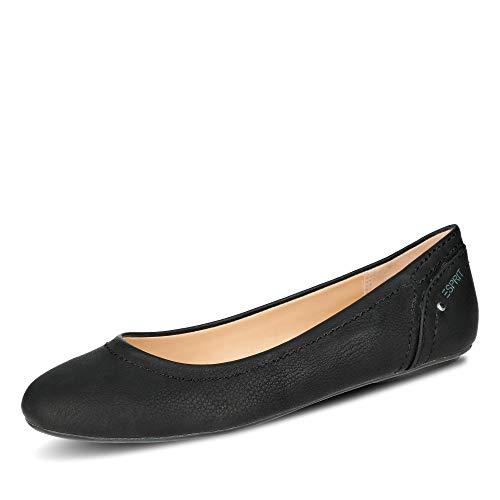Esprit 038EK1W001-001 Aloa Damen Ballerina Textilfutter mit weicher Innensohle, Groesse 37, schwarz
