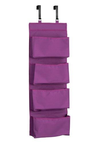 Premier Housewares Purpurroter 4-stufiger hängender Organisator, Polyester, Lila, 10x34x90