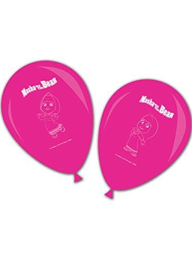 Ciao Procos 86567–Luftballons Bedruckt Masha und Bär, 8Stück, Pink