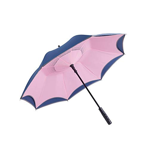 Best Buy! QNMP Reinforced Windproof Business Umbrella, Golf Umbrella Windproof Umbrella, Automatic O...