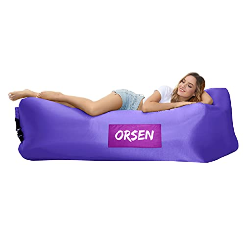 Orsen Inflatable Lounger Air Sofa, Inflatable Couch anti Leakage Camping Chair for Outdoor