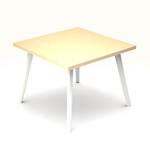 Beistelltisch Amber quadratisch 700 x 700 mm Couchtisch Kaffeetisch Loungetable Loungetisch Ablagetisch, Melamin-Farbe:Ahorn