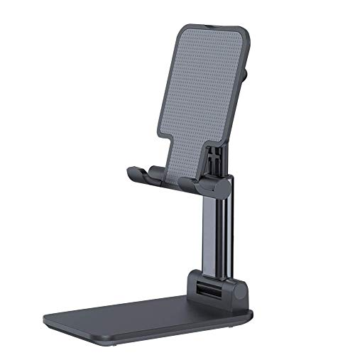 CVERY Teléfono Soporte Universal Mesa Escritorio Móvil Teléfono Soporte Plegable Ajustable Portátil Tablet Soporte - Negro, Free Size