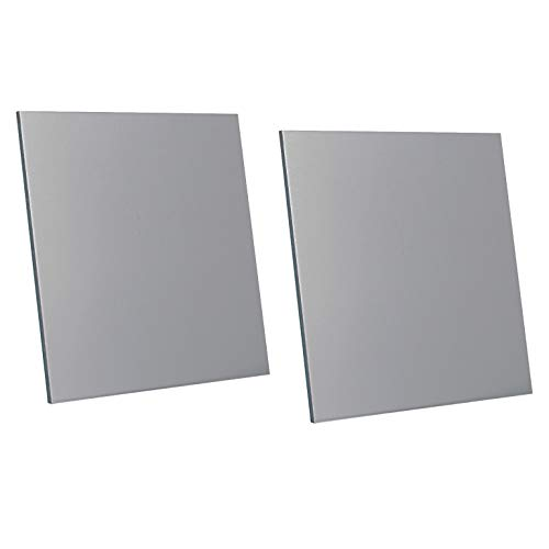 """2 Pcs 6061 T6 Aluminum Sheet, 6"""" x 6"""", 0.125""""(3mm) Thickness, Double-Sided Film Attached Aluminum Plates"""