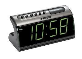 TRABO Big A - Reloj Despertador, Color Plateado, Talla única