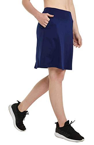 Westkun Mujer Falda Corta hasta la Rodilla de Golf Corriendo Tenis Skort Casual Pantalón Ropa Padel Corta de Modesta Deportivas