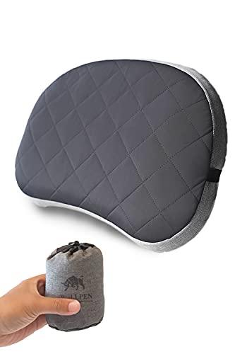 【 家の枕と寝心地が変わらない キャンプ枕 】(BULLPEN) エアピロー アウトドア 旅行枕 トラベルピロー 携帯枕 綿ダブルカバー 車中泊 ピロー 軽量 エアー 空気漏れしない