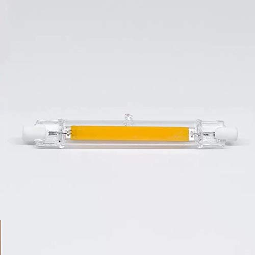 Metermall Lights For Mini Dimmable Glass R7S LED Lamp 5W 78mm/10W 118mm COB Bulb Replace Halogen Lamp Warm White 110V 10