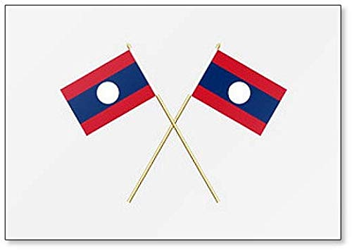 Laos Flaggen Illustration Kühlschrankmagnet