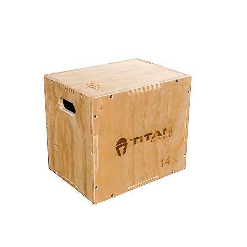 "Titan Fitness 12"" 14"" 16"" Wood Plyometric Box HD Plyo Box Jump Exercise Training"