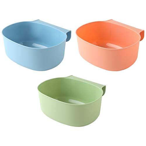 Hemoton 3 Stück Küchentonne zum Auffangen von Mülltonnen, hängend, kleiner Abfallbehälter, Kunststoff, 21 x 17,8 x 9 cm
