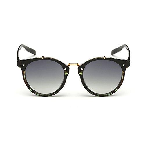 QHGstore Hombres Mujeres Nuevas gafas de sol al aire libre UV400 de conducción espejo Gafas Green pattern/green