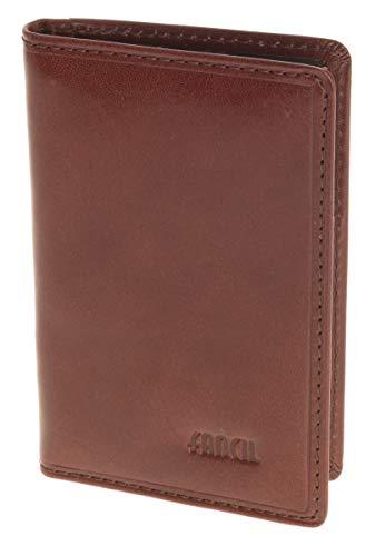Fancil - Funda de abono de transporte marrón 6,5