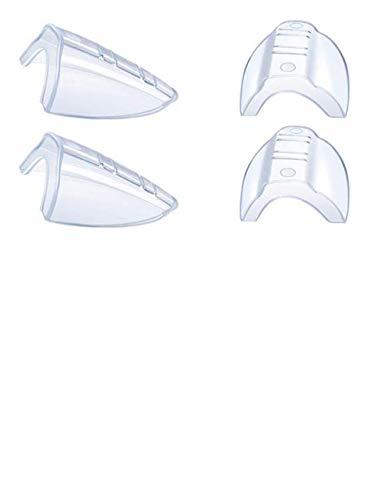 Protectores laterales antideslizantes flexibles para gafas de seguridad, se adaptan a lentes pequeñas a medianas (2 unidades transparente)