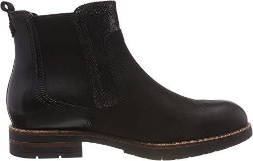Tamaris Damen 25426-21 Chelsea Boots, Schwarz (Black Comb 98), 38 EU