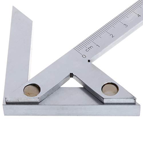 100 × 70mm Präzisions Winkelmesser Winkelmessgerät Mittelmessgerät Genaues Anreißen auf Rundmaterial Lineal Präzisions Mittelpunktsmessgerät Zentrierwinkel Markierung Center Finder 45/90 Grad