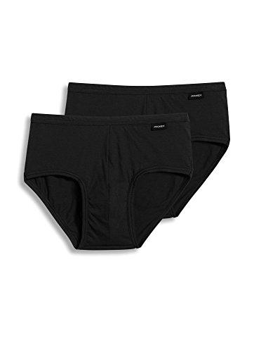 Jockey Men's Underwear Elance Poco Brief - 2 Pack, Black, M