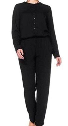 Sheego Overall Jumpsuit Einteiler Gr. 44 46 48 50 52 54 56 58 schwarz NEU