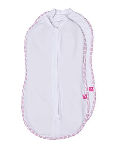 Motherhood DOPPELPACK Pucktuch zip & swaddle Gr. 2 (5-8kg) rosa classics
