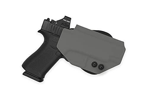 MIE Productions Straton Tactical - Boreas OWB Holster w/Paddle - Fits: Sig P365 (Gray, P365)